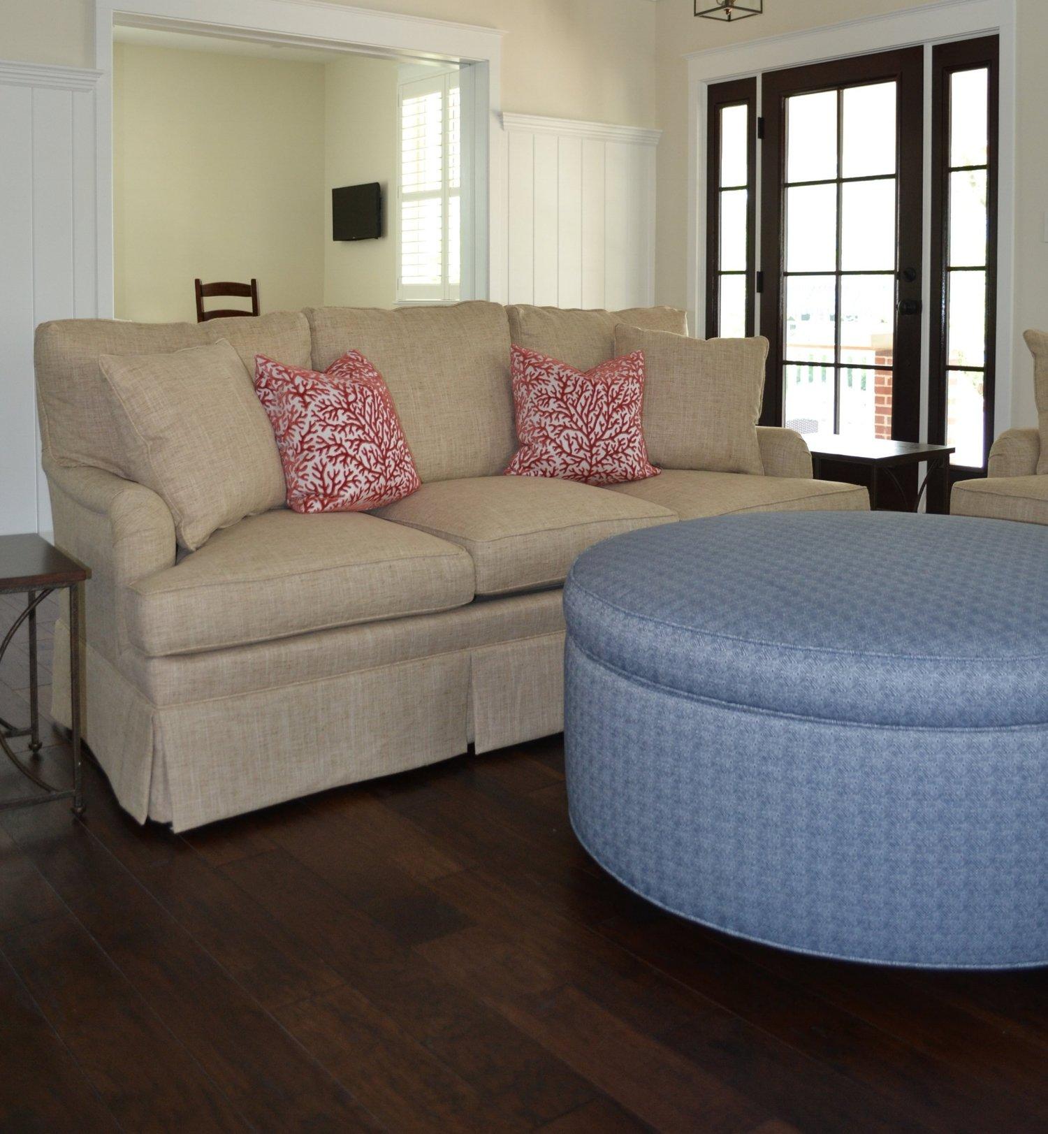 Hallman+sofa+and+storage+ottoman